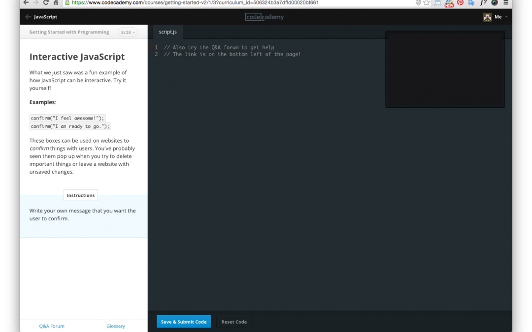 Codecademy – Teaching the world how to code