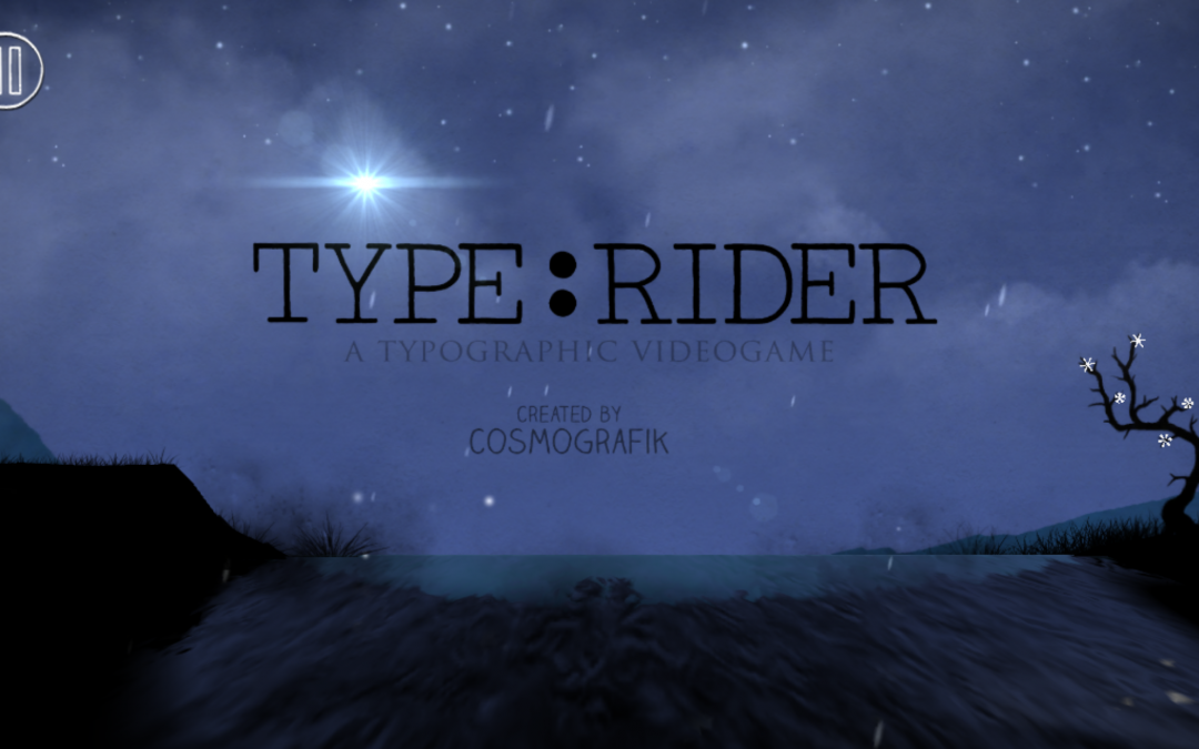 Type:Rider – A typographic odyssey